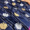 stunning Kanchipuram saree with Golden and sliver zari (Navy Blue) dvz0001347