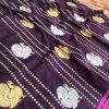 stunning Kanchipuram saree with Golden and sliver zari (Purple) dvz0001348