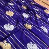 stunning Kanchipuram saree with Golden and sliver zari (blue) dvz0001346