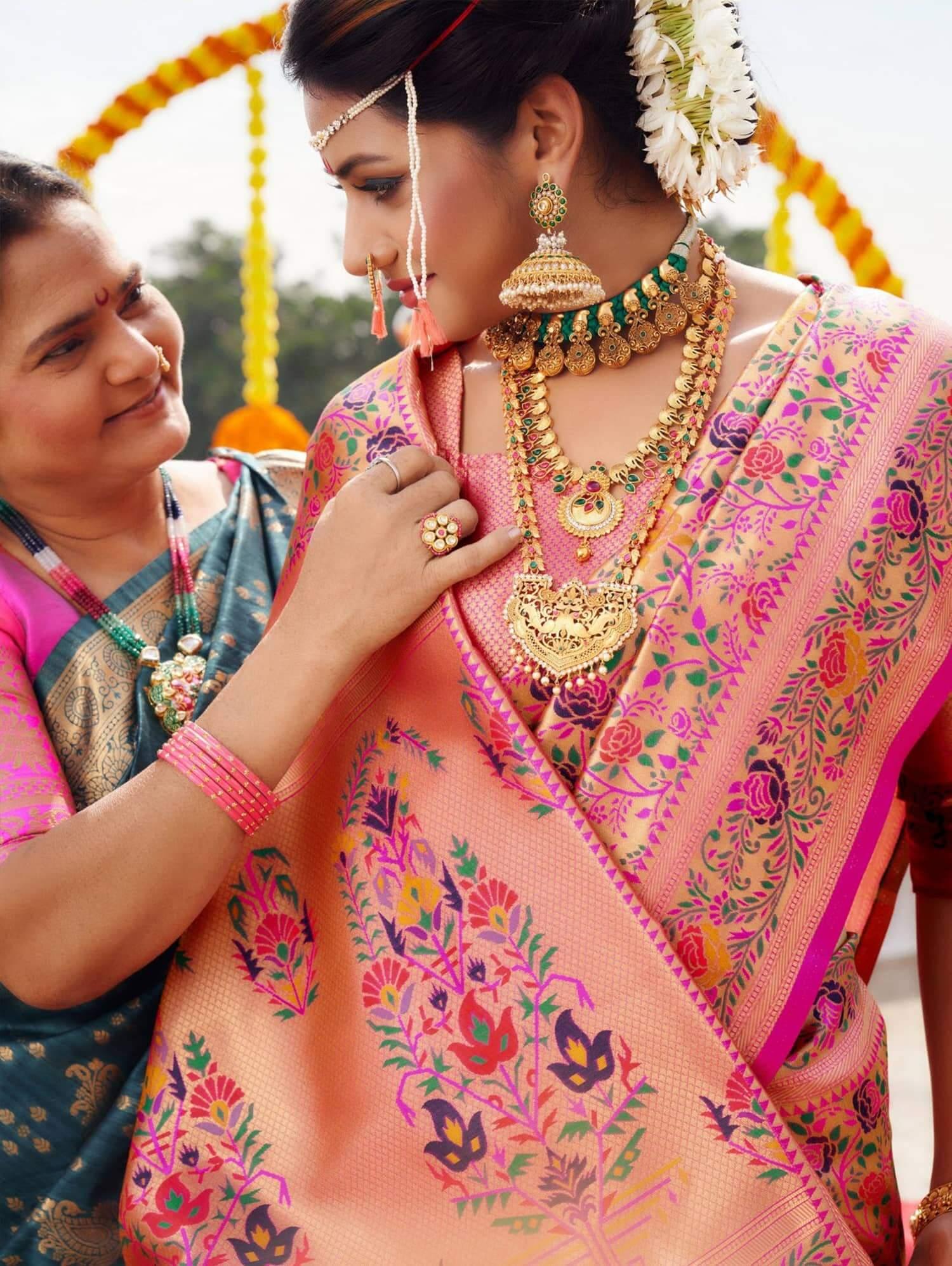 women's Kanchipuram Silk Bridal Saree dvz0002468-2