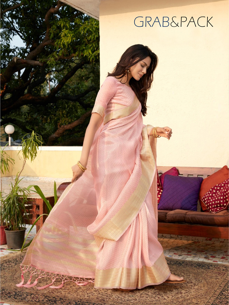 women's Pink Gorgeous Soft Tissue Silk saree dvz0002194