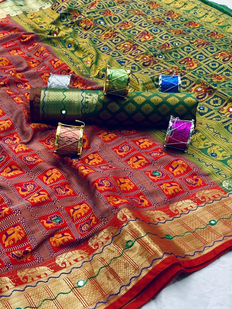 woven patola Soft silk saree dvz0001903-2