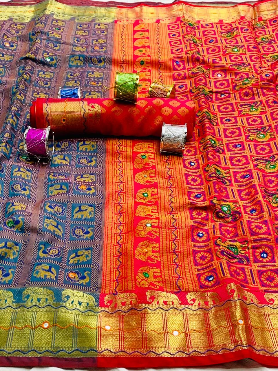 woven patola Soft silk saree dvz0001904