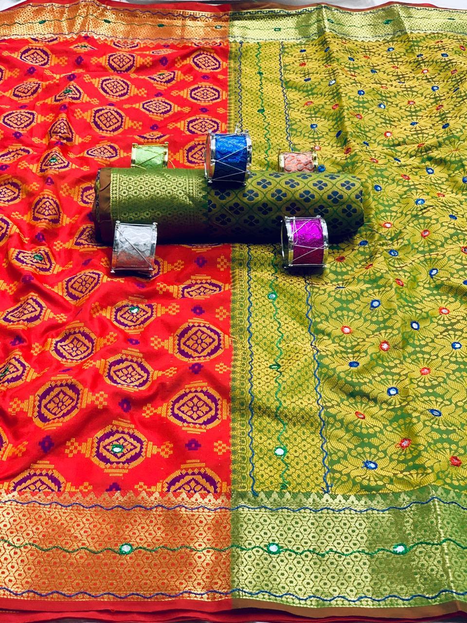 woven patola Soft silk saree dvz0001905