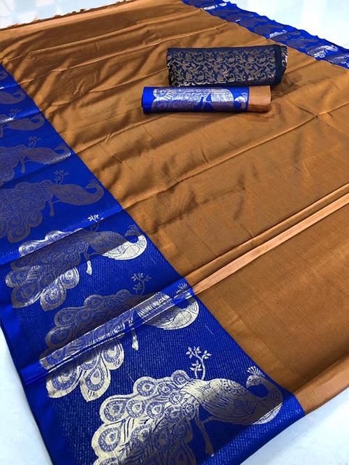 yellow-color-beautiful-cotton-silk-saree-dvz00050