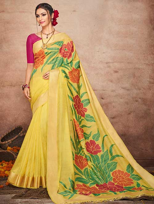 yellow-colored-beautiful-soft-slab-branded-saree-dvz000184 (2)