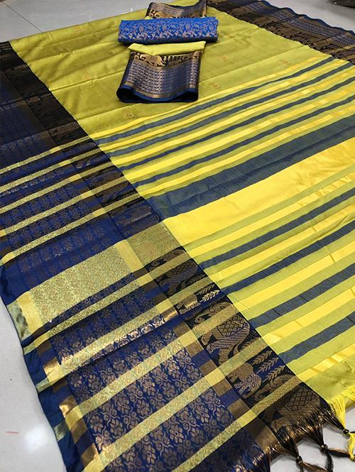 yellow-colored-glorious-cotton-silk-saree-dvz00057 (1)
